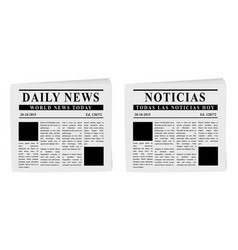 newspapers vector image