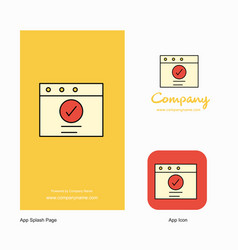 ok company logo app icon and splash page design vector image