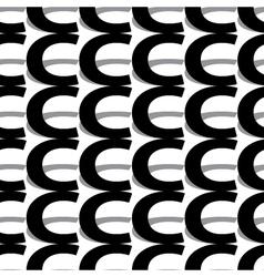 Pattern letter c vector