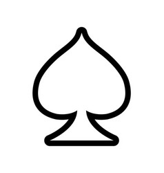 Playing card icon casino symbol vector