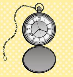 pocket watches pop art design clock vector image