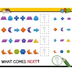 Preschool pattern task for kids vector