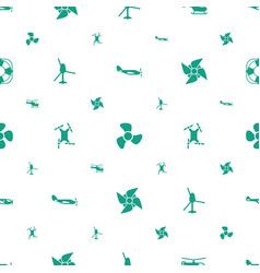 Propeller icons pattern seamless white background vector