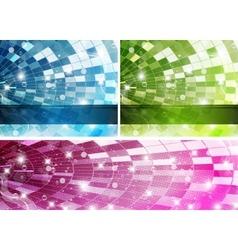 Rainbow-disco-set vector