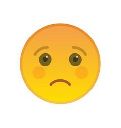 sad emoticon isolated on white background vector image