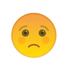 Sad emoticon isolated on white background vector