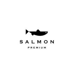 Salmon fish logo icon vector