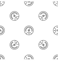 Save energy dashboard pattern seamless vector