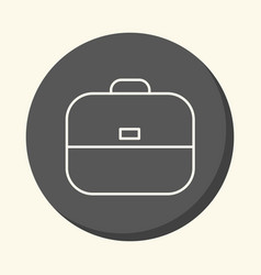 school bag round icon with the of vector image