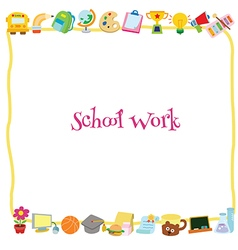 School work template vector image