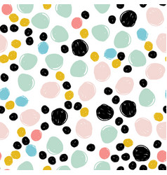 seamless dots modern pattern vector image