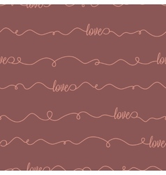 seamless pattern with lettering love vector image