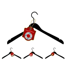 Set of hangers with Christmas sale tag vector image