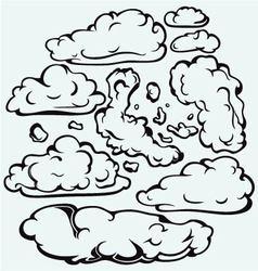 Sky with cloud closeup vector image