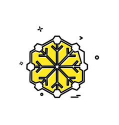 snow flakes icon design vector image