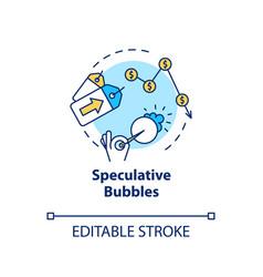 Speculative bubble concept icon economic crisis vector