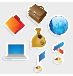 Sticker icon set for business vector