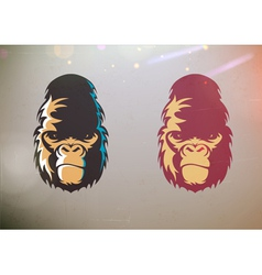 Stylized gorilla smirk face vector