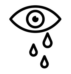 Tears from eye icon outline style vector