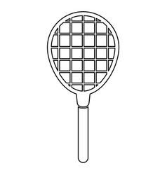 Tennis racquet black color icon vector
