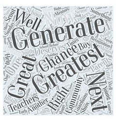 The greatest generation word cloud concept vector