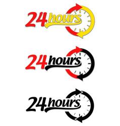 Twenty four hours icon vector