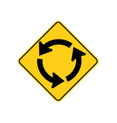 Usa traffic road signs circular intersection vector