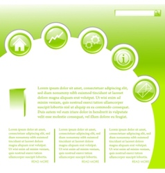 website business template in green vector image