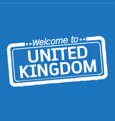 welcome to united kingdom design vector image