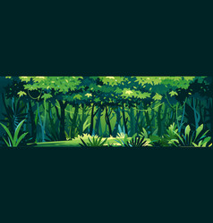 wild dark jungle background landscape vector image
