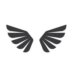 Wing logo symbol icon vector