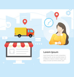 women waiting for package vector image