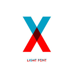 X light font template design vector