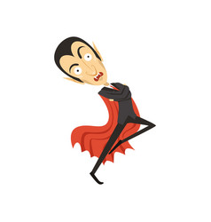count dracula dancing vampire in black suit and vector image