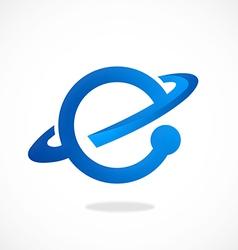 e explore internet world logo vector image