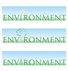 environment set vector image