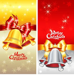 greeting card with Christmas bells vector image vector image