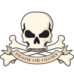 skull and crossbones emblem vector image