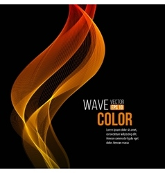 Abstract orange wave light background vector image