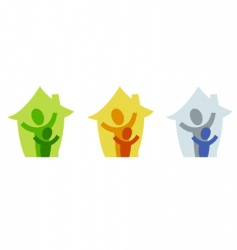 family home icon vector image vector image