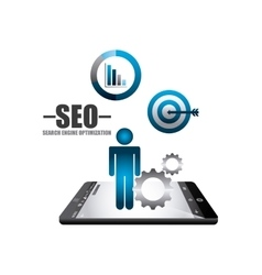 search engine optimization icons vector image vector image