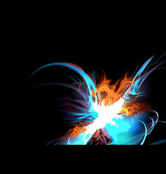 abstract colorful explosion vector image