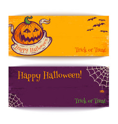 banners for halloween vector image