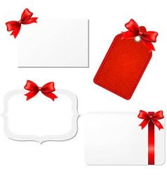 Big Set Blank Gift Tags vector image vector image
