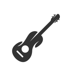 Guitar logo on white background - stock vector image