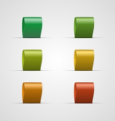 Set colorful labels vector image