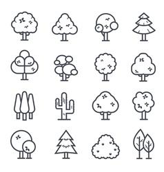 Tree Icon Bold Stroke vector image vector image