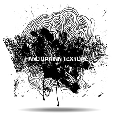 Abstract black sponge stains texture Design for vector image