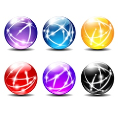 Six Spheres Balls with Communication vector image