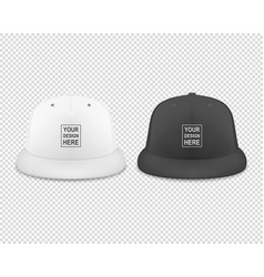 3d realistic render white and black blank vector